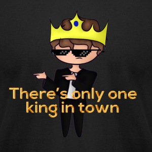 The Only King - Men's T-Shirt by American Apparel