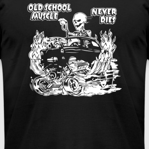 1955 OLD SCHOOL HOT ROD OUTLAW GASSER DRAG CAR BLO - Men's T-Shirt by American Apparel