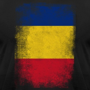 Romania Flag Proud Romanian Vintage Distressed Shi - Men's T-Shirt by American Apparel