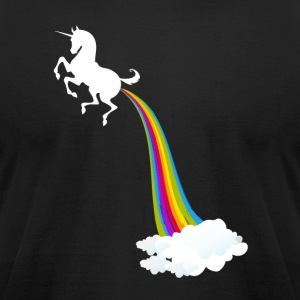 Unicorn Farting Rainbow - Men's T-Shirt by American Apparel