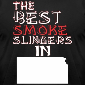 The Best Smoke Slingers In Kansas Barbecue - Men's T-Shirt by American Apparel