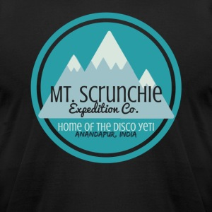Mt Scrunchie Expedition Co: Home of the Disco Yeti - Men's T-Shirt by American Apparel