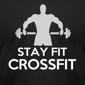 Stay Fit Crossfit - Men's T-Shirt by American Apparel