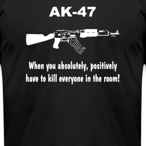 AK 47 funny saying ak47 - Men's T-Shirt by American Apparel