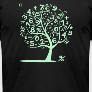 Math Numbers Tree Mens Unisex - Men's T-Shirt by American Apparel