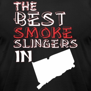 The Best Smoke Slingers In Connecticut Barbecue - Men's T-Shirt by American Apparel