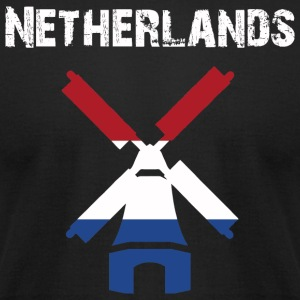 Nation-Design Netherlands Windmill - Men's T-Shirt by American Apparel