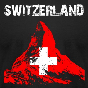 Nation-Design Switzerland Matterhorn - Men's T-Shirt by American Apparel