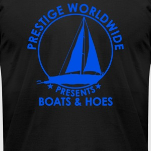 Prestige Worldwide Boats And Hoes - Men's T-Shirt by American Apparel