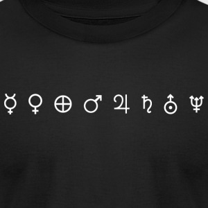 Planet Symbols - Men's T-Shirt by American Apparel