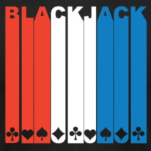 Red White And Blue Blackjack - Men's T-Shirt by American Apparel