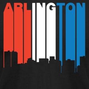 Red White And Blue Arlington Texas Skyline - Men's T-Shirt by American Apparel