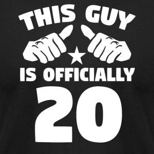 This Guy Is Officially 20 Years Old 20th Birthday - Men's T-Shirt by American Apparel