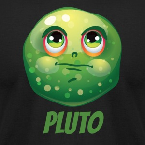 Cartoon Planet Pluto - Men's T-Shirt by American Apparel