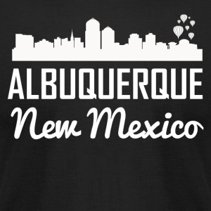 Albuquerque New Mexico Skyline - Men's T-Shirt by American Apparel