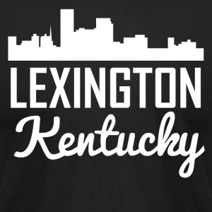 Lexington Kentucky Skyline - Men's T-Shirt by American Apparel