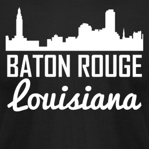 Baton Rouge Louisiana Skyline - Men's T-Shirt by American Apparel