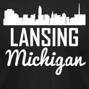 Lansing Michigan Skyline - Men's T-Shirt by American Apparel