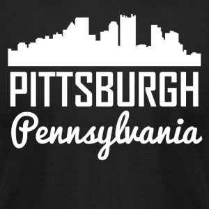 Pittsburgh Pennsylvania Skyline - Men's T-Shirt by American Apparel