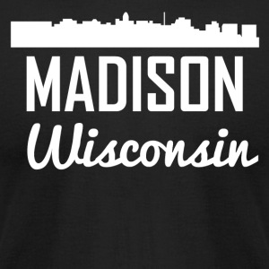 Madison Wisconsin Skyline - Men's T-Shirt by American Apparel