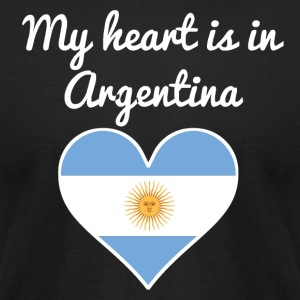 My Heart Is In Argentina - Men's T-Shirt by American Apparel