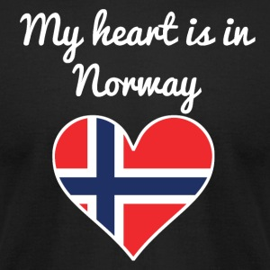 My Heart Is In Norway - Men's T-Shirt by American Apparel
