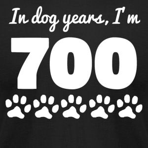 Dog Years 100th Birthday - Men's T-Shirt by American Apparel
