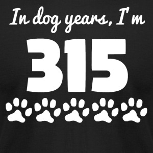 Dog Years 45th Birthday - Men's T-Shirt by American Apparel