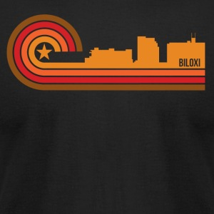 Retro Style Biloxi Mississippi Skyline - Men's T-Shirt by American Apparel