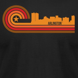 Retro Style Arlington Texas Skyline - Men's T-Shirt by American Apparel