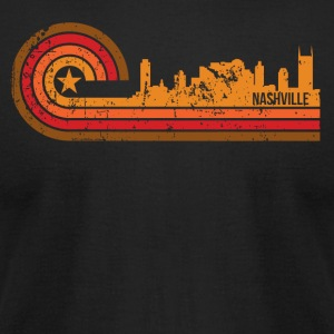 Retro Style Nashville Tennessee Skyline - Men's T-Shirt by American Apparel