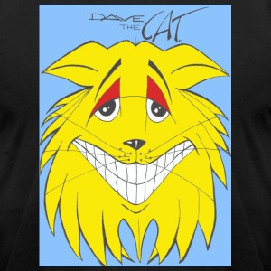 Dave Big Cat Face - Men's T-Shirt by American Apparel