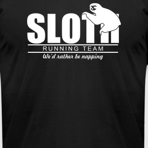 Sloth Running Team - Men's T-Shirt by American Apparel