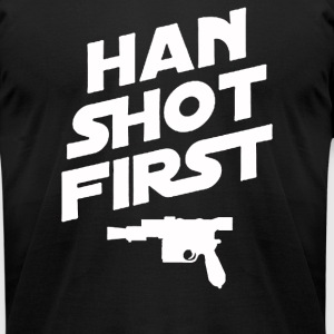 Han Shot First - Men's T-Shirt by American Apparel