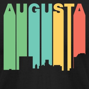 Retro 1970's Style Augusta Georgia Skyline - Men's T-Shirt by American Apparel