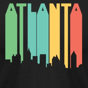 Retro 1970's Style Atlanta Georgia Skyline - Men's T-Shirt by American Apparel
