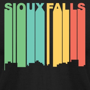 Retro 1970's Style Sioux Falls SD Skyline - Men's T-Shirt by American Apparel