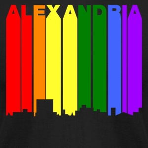 Alexandria Louisiana Gay Pride Rainbow Skyline - Men's T-Shirt by American Apparel