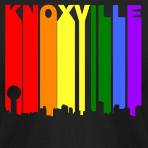 Knoxville Tennessee Gay Pride Rainbow Skyline - Men's T-Shirt by American Apparel