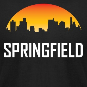Springfield Illinois Sunset Skyline - Men's T-Shirt by American Apparel