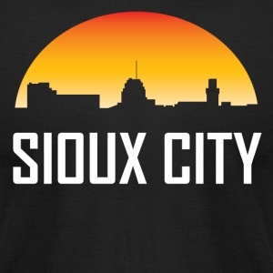 Sioux City Iowa Sunset Skyline - Men's T-Shirt by American Apparel