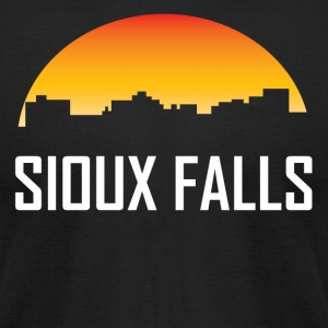 Sioux Falls South Dakota Sunset Skyline - Men's T-Shirt by American Apparel