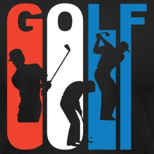 Red White And Blue Golf - Men's T-Shirt by American Apparel