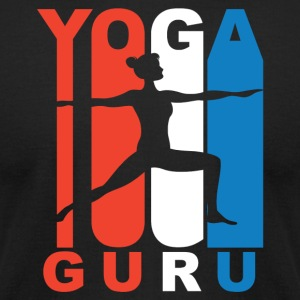 Red White And Blue Yoga Guru - Men's T-Shirt by American Apparel