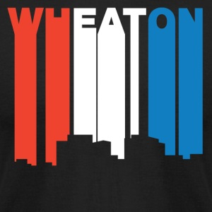 Red White And Blue Wheaton Maryland Skyline - Men's T-Shirt by American Apparel