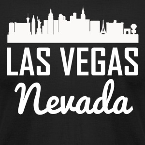 Las Vegas Nevada Skyline - Men's T-Shirt by American Apparel