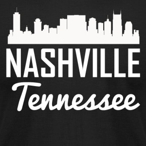 Nashville Tennessee Skyline - Men's T-Shirt by American Apparel