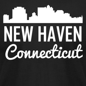New Haven Connecticut Skyline - Men's T-Shirt by American Apparel