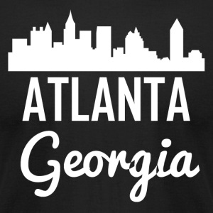 Atlanta Georgia Skyline - Men's T-Shirt by American Apparel