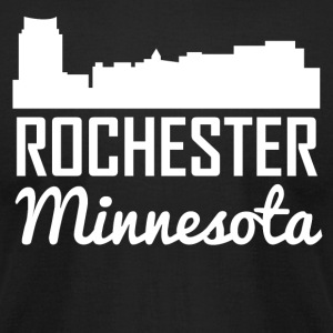 Rochester Minnesota Skyline - Men's T-Shirt by American Apparel